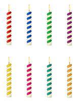velas para a ilustração vetorial de bolo de aniversário