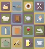 objetos e equipamentos para a ilustração do vetor de comida
