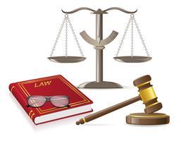 ilustração em vetor ícones lei