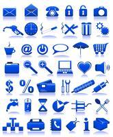 ícones azuis vetor