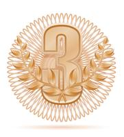 vencedor de grinalda laureada esporte bronze ilustração vetorial de estoque