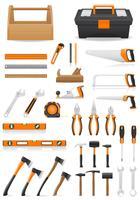 conjunto de ferramentas ícones ilustração vetorial vetor