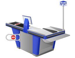 ilustração em vetor terminal registradora