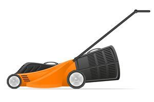 ilustração em vetor de estoque de cortador de grama