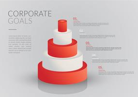 Infográfico de metas corporativas vetor