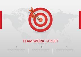 Infográfico de metas corporativas. Infográfico de trabalho em equipe. vetor