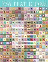 conjunto diversificado de ilustração em vetor ícones plana