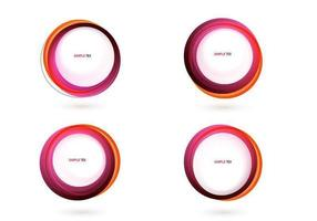 Pacote de vetores de banner círculo rosa