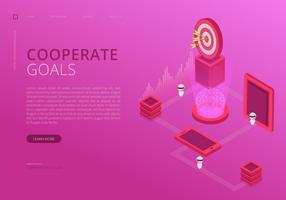 Infográfico de metas corporativas. vetor