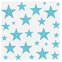 Projeto do teste padrão de estrela vetor