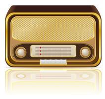 ilustração vetorial de rádio retrô vetor