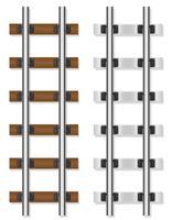 trilhos de trem de madeira e concreto travessas ilustração vetorial vetor