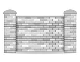 ilustração de vetor de cerca de tijolo
