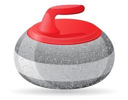 pedra para curling esporte ilustração vetorial de jogo