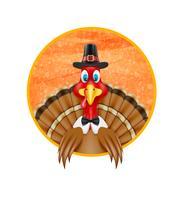 ilustração do vetor de pássaro de peru de ação de Graças