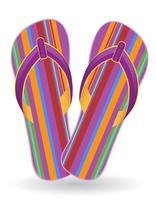 ilustração em vetor praia flip-flops