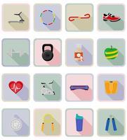 ilustração em vetor ícones plana fitness
