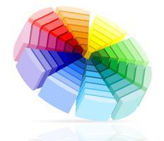 ilustração vetorial de paleta de cores