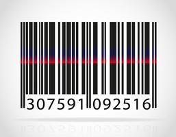 código de barras com a tira da ilustração vetorial de laser