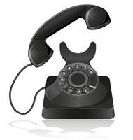 ilustração vetorial de telefone antigo