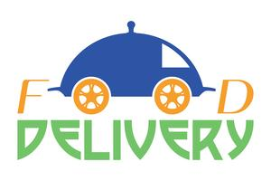 ilustração em vetor logotipo entrega comida