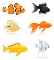 ilustração de vetor de peixes de aquário