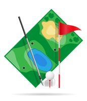 campo para ilustração vetorial de golfe