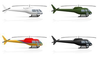 ilustração em vetor helicóptero de passageiros civis