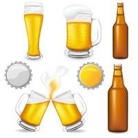 conjunto de ilustração vetorial de cerveja vetor