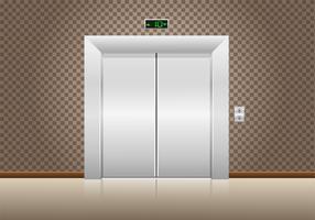 portas de elevador fechadas vetor
