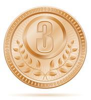 ilustração em vetor estoque medalha vencedor esporte bronze