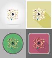 ilustração em vetor ícones plana molécula
