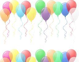ilustração em vetor de balões coloridos transparentes EPS10