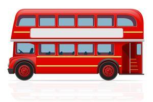 ilustração vetorial de ônibus vermelho de Londres
