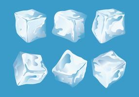Conjunto de Clipart de cubo de gelo vetor