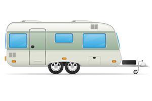 ilustração em vetor trailer caravana