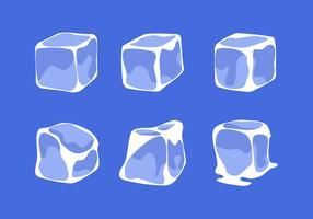 Vetor de clipart de cubo de gelo simples