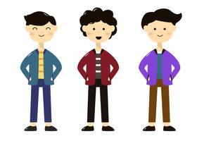 Personagens de diferentes estilos de crianças vetor