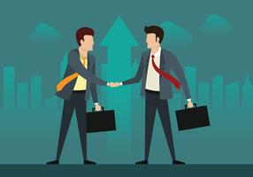 Dois homem de negócios em um negócio vetor