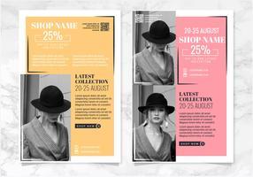 Modelos de folhetos de moda de vetor