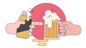 Vetor de amigos de cerveja