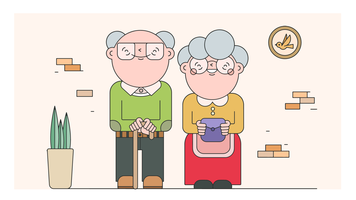 Avó e Avô Vector