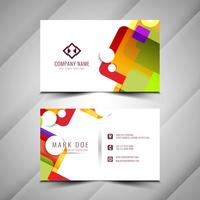 Design colorido elegante cartão de visita abstrato vetor