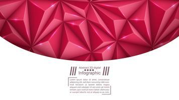 Modelo de papel de negócios - fundo de origami.