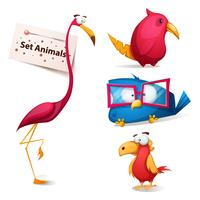 Set - bonito, personagens de desenhos animados engraçados. vetor