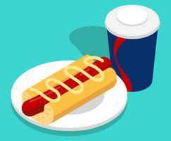 Ilustração de alimentos de verão vetor