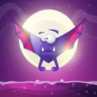 Morcego, vampiro - personagens de terror dos desenhos animados. vetor