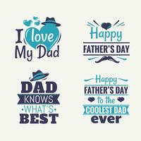 Feliz dia dos pais conjunto de elemento de vetor