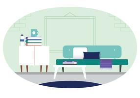 Ilustração de quarto Designer de vetor