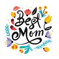 """""""Melhor mãe"""" tipografia Vector Design"""
